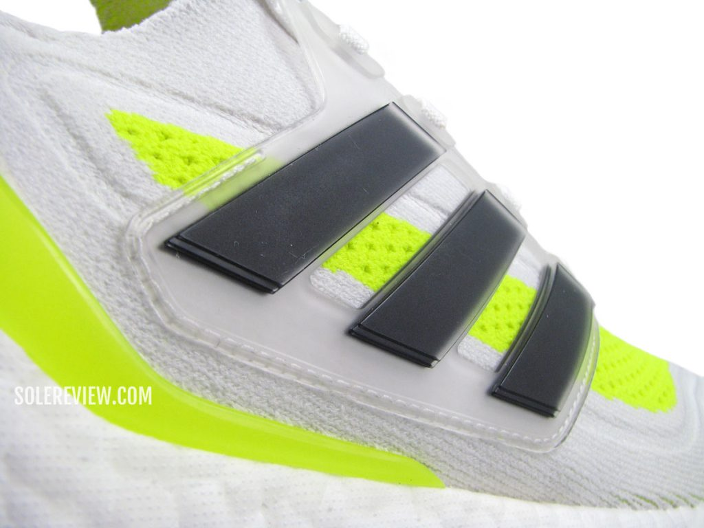 The midfoot cage of the adidas Ultraboost 21