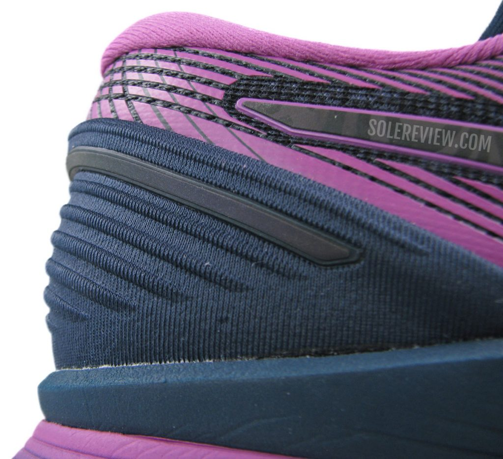 Asics Glideride 2 heel counter