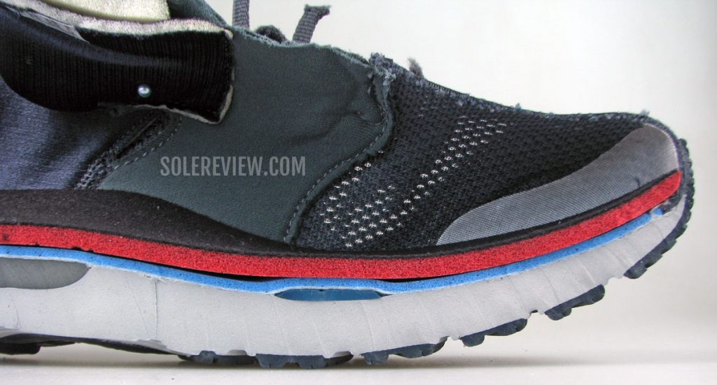 The forefoot Gel pad of the Asics Nimbus 23.