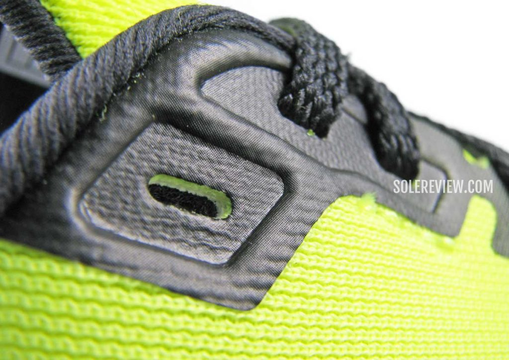 The fused lacing panel of the Brooks Launch 8.