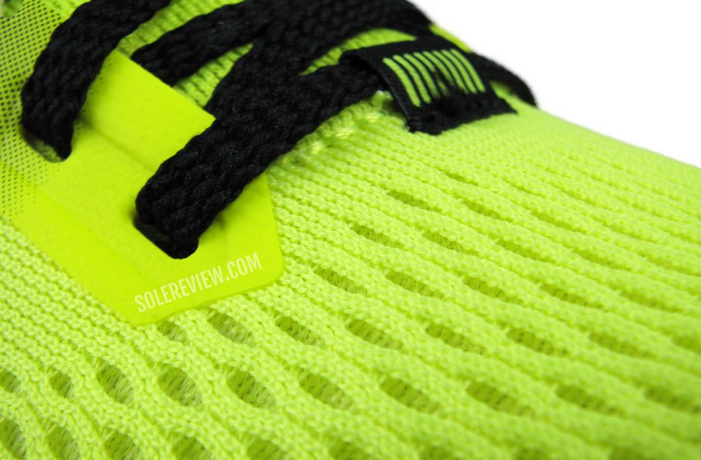 The upper spacer mesh of the Brooks Launch 8.