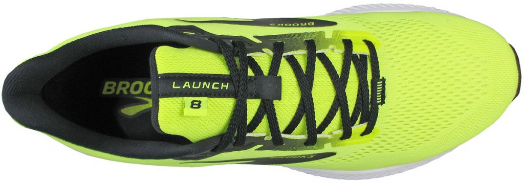 The top view of the Brooks Launch 8.