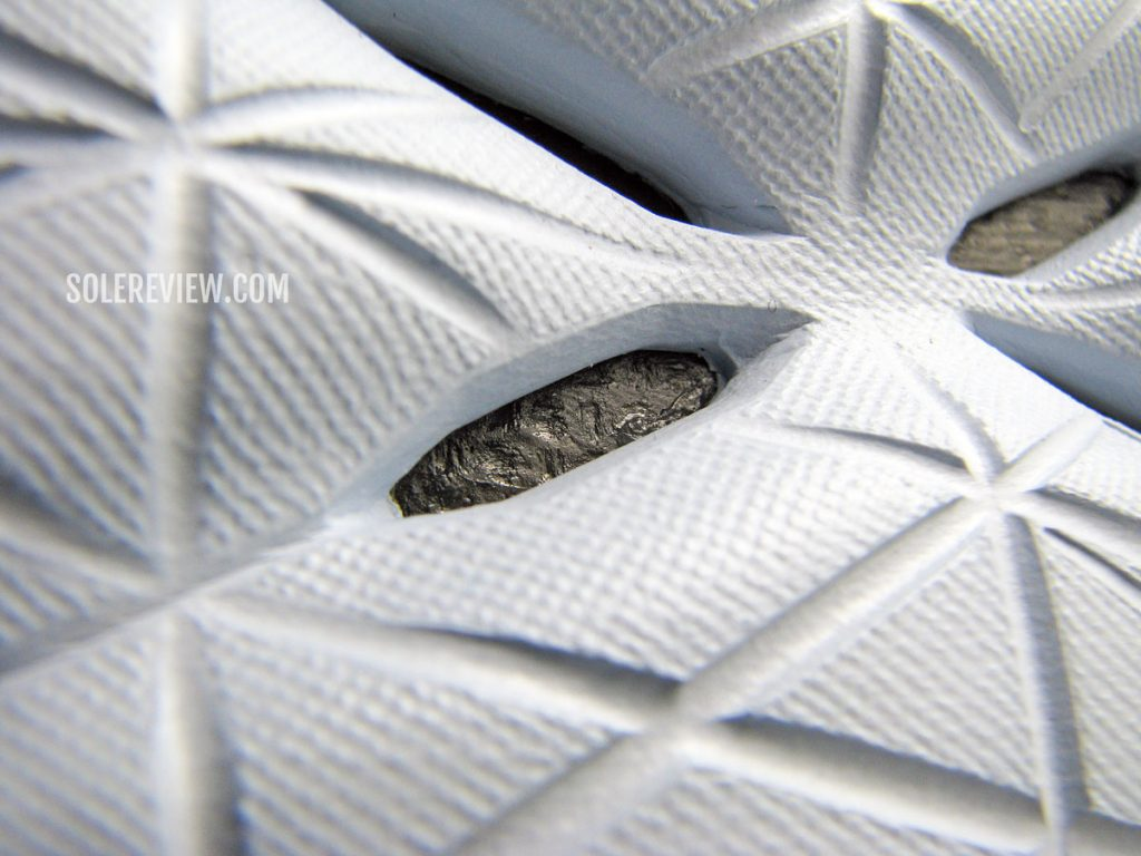 The Carbon plate inside the midsole of the Hoka Carbon X2.