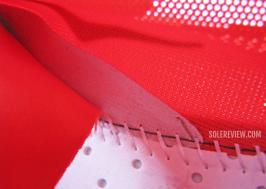 The internal support layering of the Hoka Carbon X2.