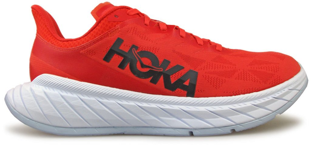 The side profile of the Hoka Carbon X2.