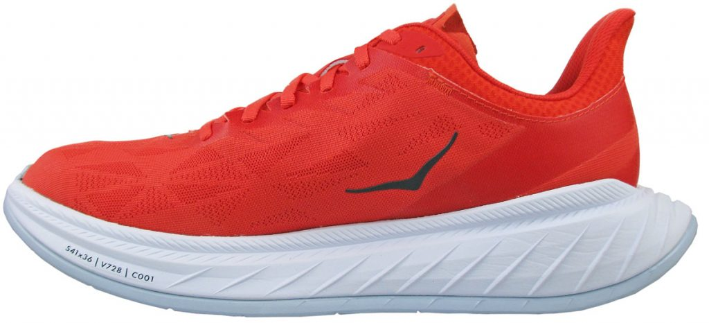 The side view of the Hoka Carbon X2.