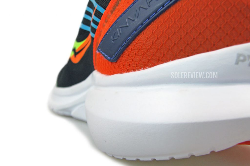 The side profile of the Saucony Kinvara 12's midsole.
