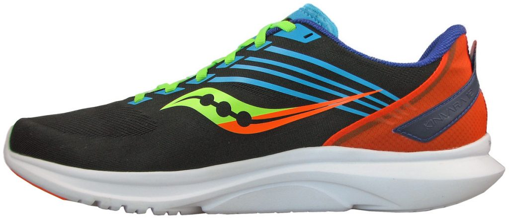 The side midsole view of the Saucony Kinvara 12.