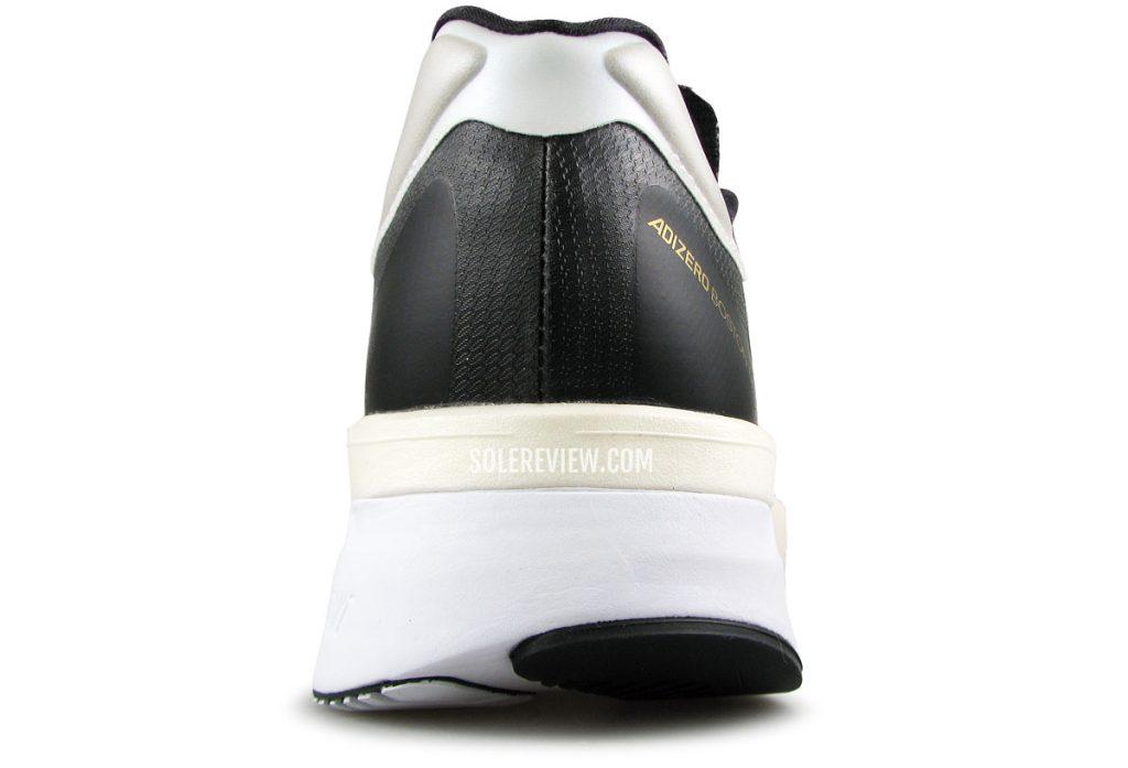 The heel of the adidas adizero Boston 10.