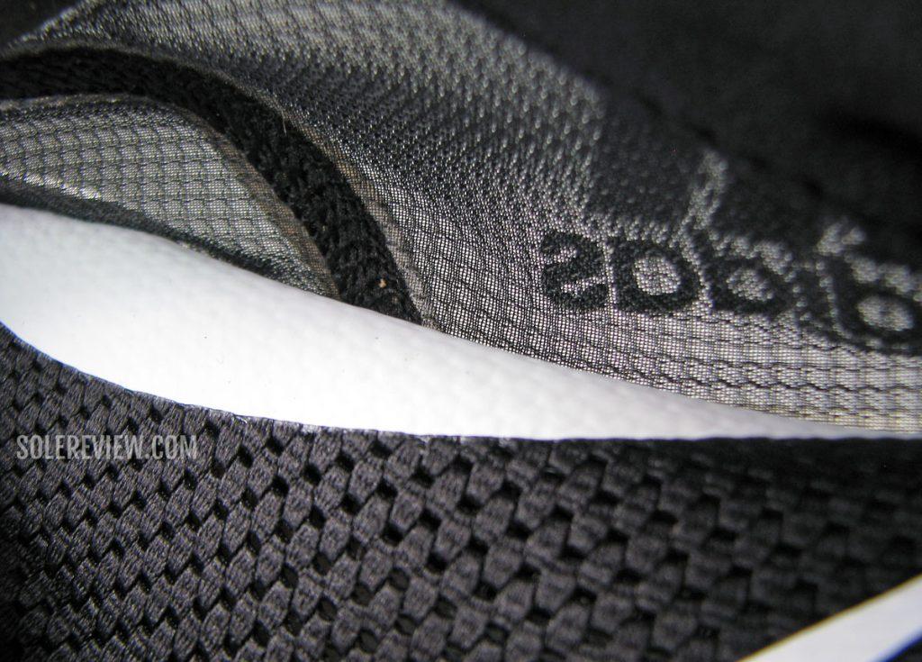 The arch support of the adidas adizero Boston 10.